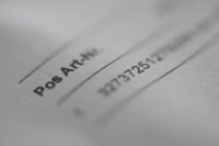 faktura na papierze